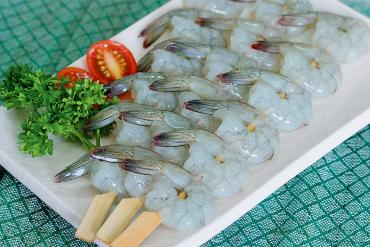 FROZEN RAW PTO SKEWER VANAMEI PRAWN